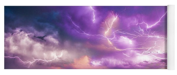 Chasing Nebraska Lightning 056 Yoga Mat