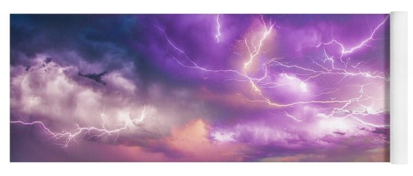 Yoga Mat featuring the photograph Chasing Nebraska Lightning 056 by NebraskaSC