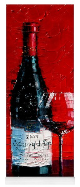 Still Life With Wine Bottle And Glass I Yoga Mat