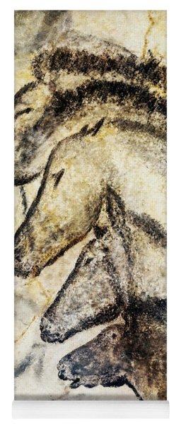 Chauvet Horses Yoga Mat