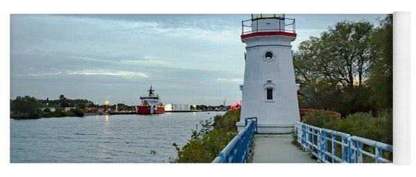 Cheboygan Crib Lighthouse Lake Huron, Lower Peninsula Mi Yoga Mat