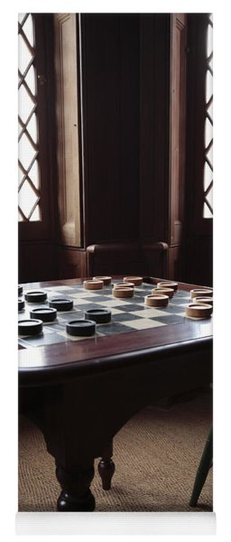 Checkers Table At The Lincoln Cottage In Washington Dc Yoga Mat