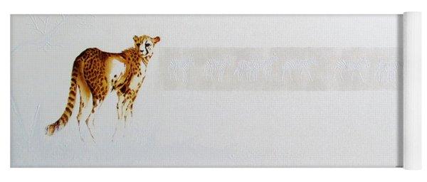 Cheetah And Zebras Yoga Mat