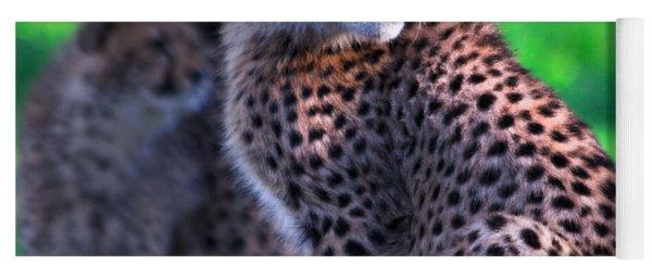 Cheetah Cub Yoga Mat