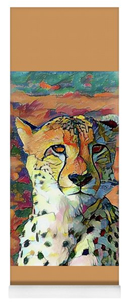 Cheetah Face Yoga Mat