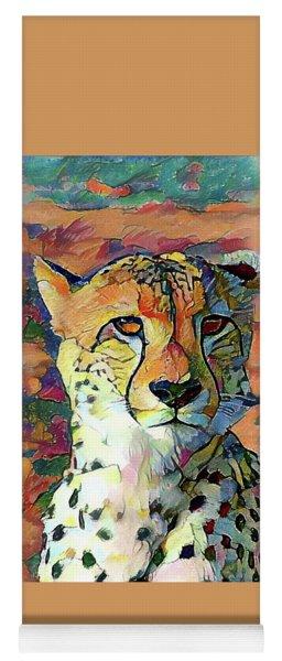 Cheetah Face Yoga Mat