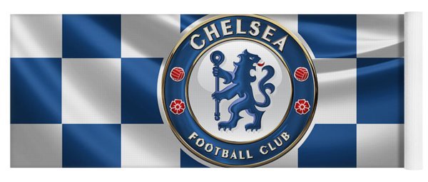 Chelsea F C - 3 D Badge Over Flag Yoga Mat