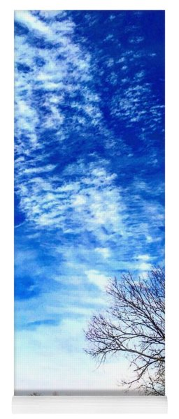 Chemtrails Point To The Burr Oak Yoga Mat