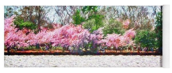 Cherry Blossom Day Yoga Mat