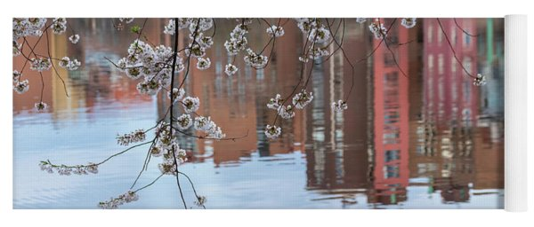 Cherry Blossom Reflections Yoga Mat