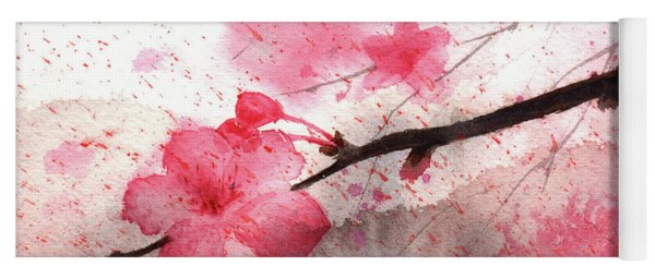 Cherry Blossoms 1 Yoga Mat