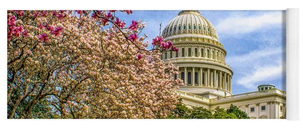 Cherry Blossoms At The Capitol Yoga Mat
