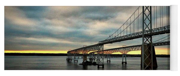 Chesapeake Bay Bridge At Twilight Yoga Mat