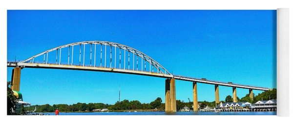 Chesapeake City Bridge  Yoga Mat