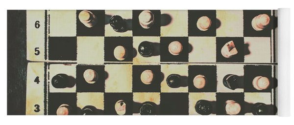 Chessboards And Playing Pieces Yoga Mat