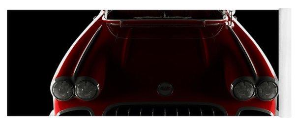 Chevrolet Corvette C1 - Front View Yoga Mat