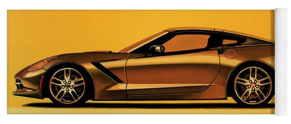 Chevrolet Corvette Stingray 2013 Painting Yoga Mat
