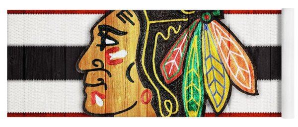 Chicago Blackhawks Barn Door Yoga Mat