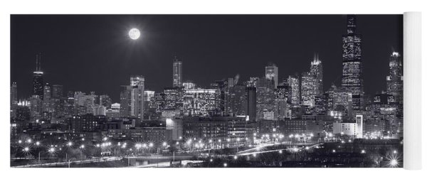 Chicago By Night Yoga Mat