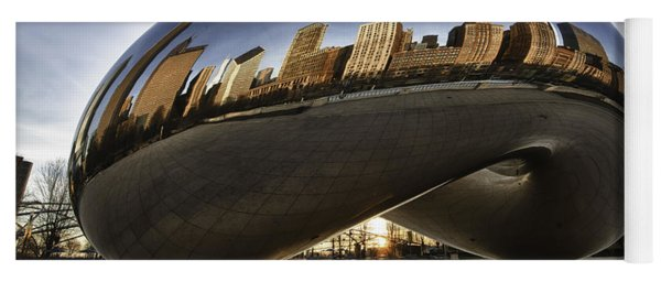 Chicago Cloud Gate At Sunrise Yoga Mat