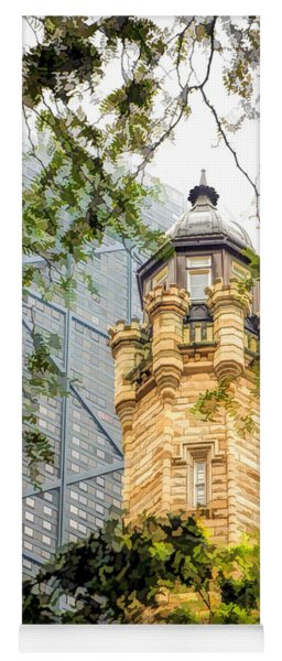 Chicago Historic Water Tower Fog Yoga Mat