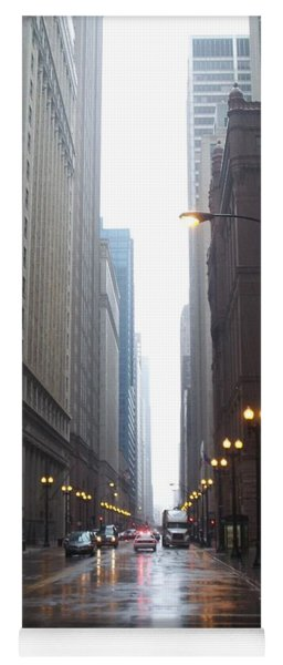 Chicago In The Rain 2 Yoga Mat
