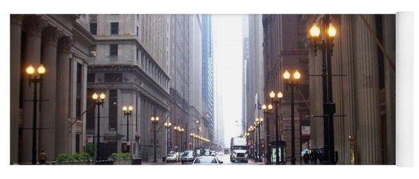 Chicago In The Rain Yoga Mat