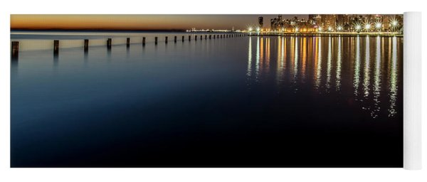 Chicago Lakefront Scene At Dawn  Yoga Mat