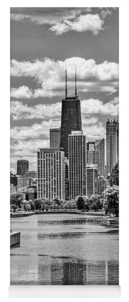Chicago Lincoln Park Lagoon Black And White Yoga Mat
