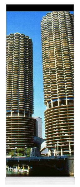 Chicago Poster - Marina City Yoga Mat