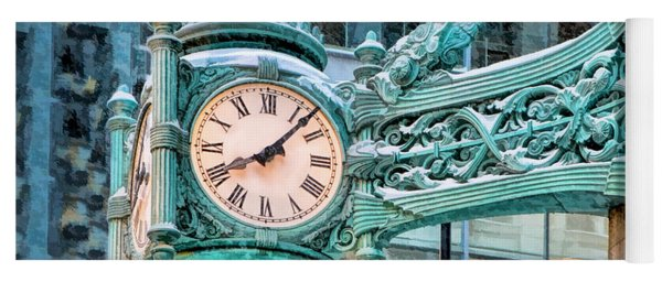 Chicago Marshall Field State Street Clock Yoga Mat