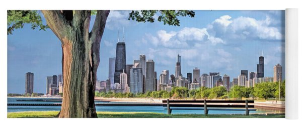 Chicago North Skyline Park Yoga Mat