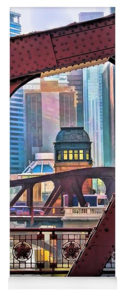 Chicago River Bridge Framed Yoga Mat