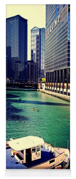 City Of Chicago - River Tour Yoga Mat