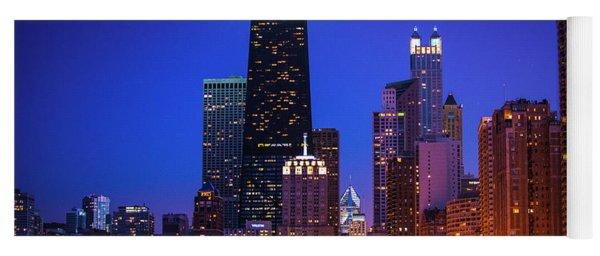 Chicago Shoreline Skyscrapers Yoga Mat