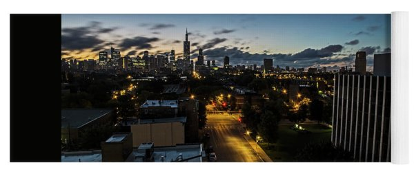 Chicago Skyline Early One Summer Morning Yoga Mat