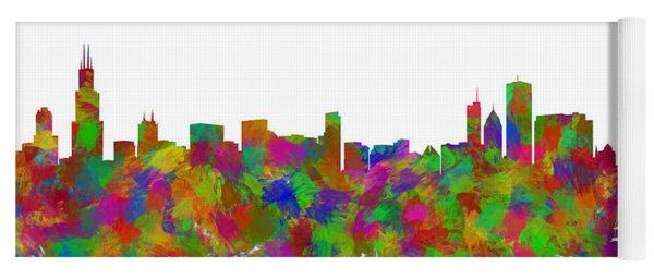 Chicago Skyline Silhouette I Yoga Mat