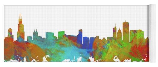 Chicago Skyline Silhouette IIi Yoga Mat