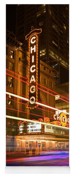 Chicago Theater Marquee Yoga Mat