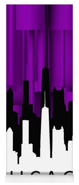 Chicago Violet Vertical  Yoga Mat