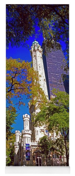 Chicago Water Tower And John Hancock Building  Yoga Mat