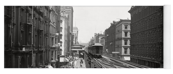 Chicago's Wabash Avenue  1900 Yoga Mat