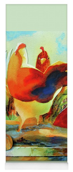 Chicken Puzzler- Where Are My Eggs Yoga Mat