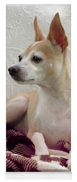 Chihuahua Chiqui  Portrait  Yoga Mat