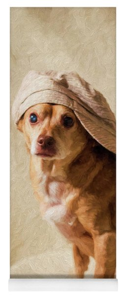 Chihuahua In A Newsboy Hat Yoga Mat