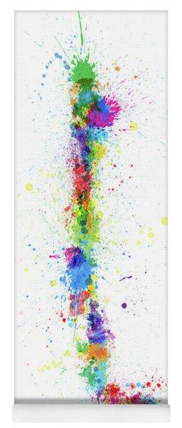 Chile Paint Splashes Map Yoga Mat
