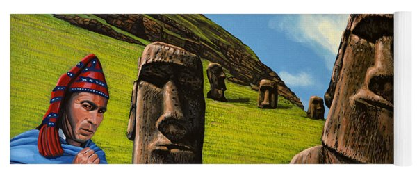 Chile Easter Island Yoga Mat