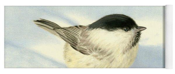Chilly Chickadee Yoga Mat