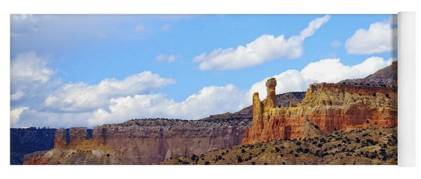 Chimney Rock Ghost Ranch New Mexico Yoga Mat