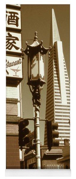 Chinatown San Francisco - Vintage Photo Art Yoga Mat